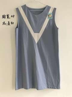 🚚 海軍風無袖洋裝