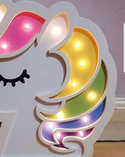 Unicorn Head Wall LED Decor