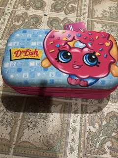 Shopkins Pencils / Accessory Case. From USA. Very nice and durable. Onhand.
