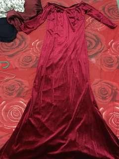 long dress velvet sabrina