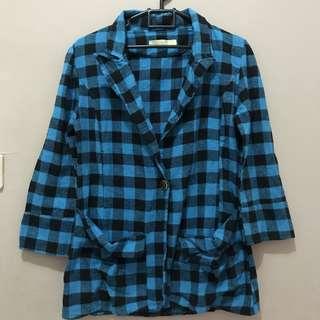 Blue Tartan oversize shirt