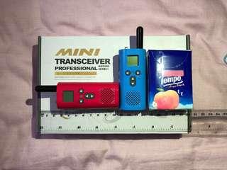超小型迷你對講機一對USB 充電mini walkie talkie 以後去旅行出門玩就算冇WiFi都唔驚會失散,細細個一人袋住一個超方便