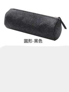 🚚 日式簡約毛氈大容量筆袋
