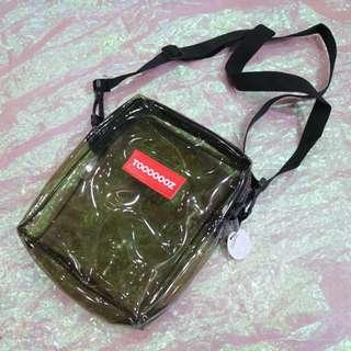 果凍透明色造型中性側背包
