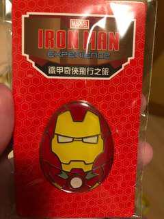 全新迪士尼iron man蛋形襟章