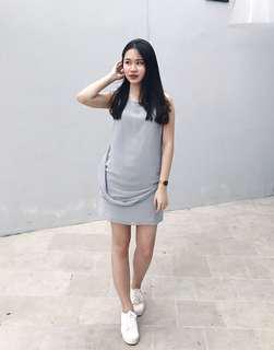 Grey drapery dress