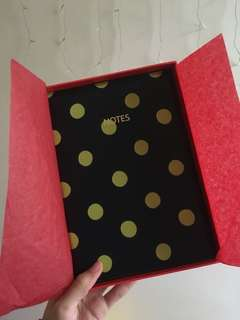 🚚 Cath Kidston 100% Leather Cover Polka Dot Notebook