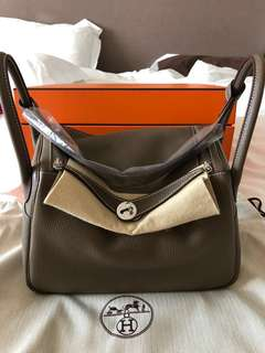 Hermes Lindy 30 PHW etoupe TC Stamp C