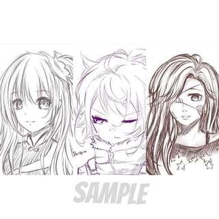 (OPEN) Anime Digital Art commissions