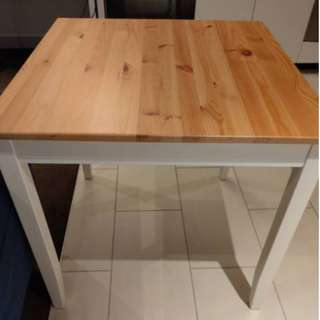 IKEA Dining table set with 2 chairs (LERHAMN set) Good Condition