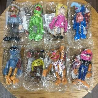 McDonald's Happy Meal The Muppets Show Plush Toys set of 8 麥當勞開心樂園餐絨毛玩具