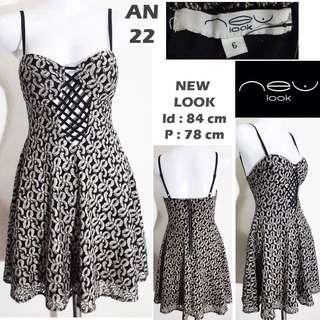 New look mini dress sexy black