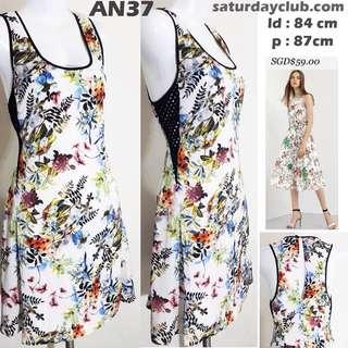 Spring dress flower white sleeveless