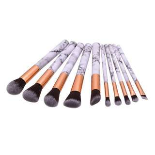 Marble Make Up Brushes set FREE REG MAIL