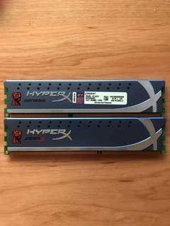 Hyper X DDR3 Ram 4G*2