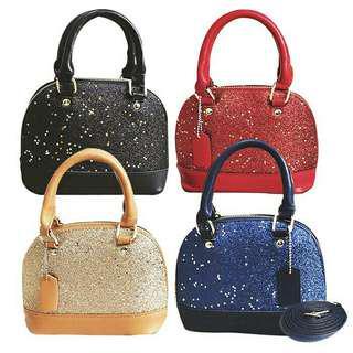 Glamour Glitter Star Shiny Dinner Party Handbag