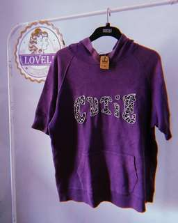 Cutie purple short sleeve sweater