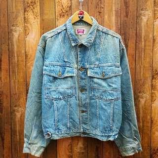trucker jaket jeans murah