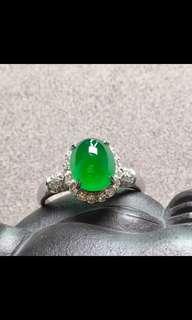 A玉翡翠Jade18K金鑲嵌戒指