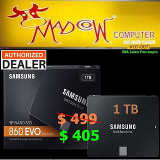 Samsung 860 Evo 1TB SSD..., ( Hurry Grab it Tonite while Stock Last..)
