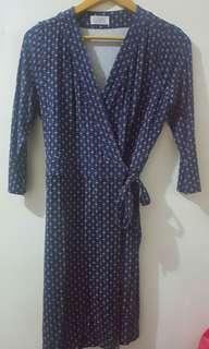 Blue Wrap Around Dress