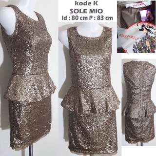 Peplum gold mini dress sleeveless blink