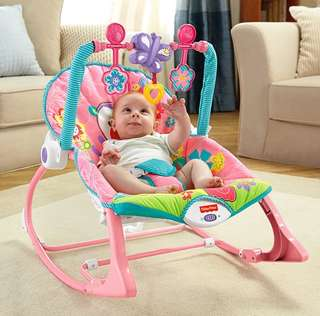 *In Stock* BN Fisher-Price Infant-to-Toddler Bouncer Rocker, Bright Pink