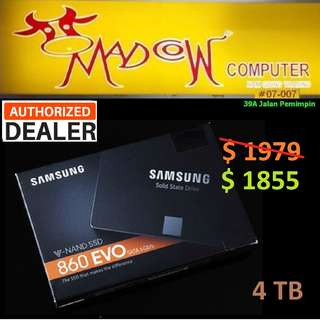 "Samsung 860 evo 4TB SSD.., ( ""Hurry Grab it While Stock...Last.."" )"