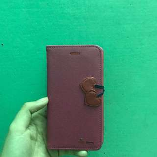 Pink leather case for iphone6/6s