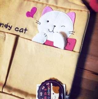 🚚 日本人氣貓咪手染布包 寵物包 收納包