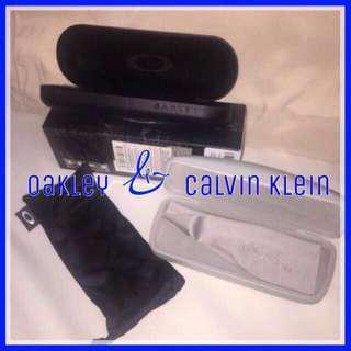 Calvin Klein Oakley Optical Hard Eyeglass Clam Shell Case