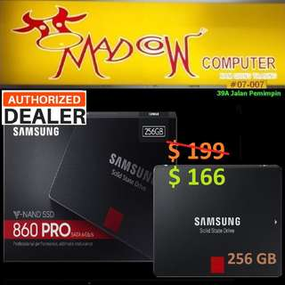 "Samsung 860 PRO 256GB SSD (SATA 6.0Gbps 2.5"") ( Hurry Grab it Tonite while Stock Last..)"