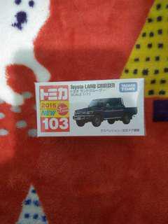 全新 日版 TOMICA 103 Toyota land cruiser