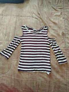 Pull & bear crop blouse size S