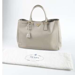 AUTHENTIC Prada Grey Saffiano Leather Tote