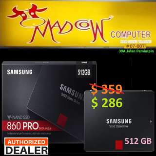 "Samsung 860 Pro 512GB SSD 2.5"".., ( ""Hurry Grab it While Stock...Last.."" )"