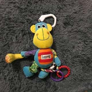 Lamaze mainan anak monkey teether