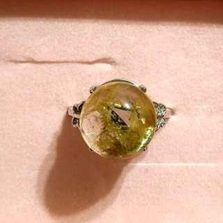 極品帶母礦清料鈦晶戒