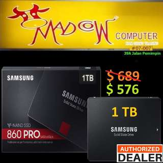 "Samsung 860 Pro 1TB SSD 2.5"".., ( ""Hurry Grab it While Stock...Last.."" )"