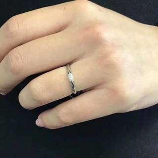 18k0.10ct八心八箭鑽石戒指
