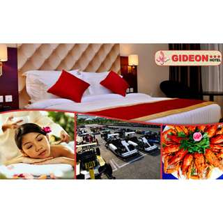 Batam: 2D1N at Gideon Hotel with Buffet Breakfast + 2-Way Ferry Tickets and Transfers + Seafood Lunch + Shopping Tour and Voucher + 60-Min Massage. Min 2 To Go. 3 Price Options Available