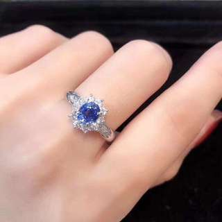 18k藍寶石1.27ct鑽石0.47ct戒指