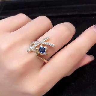 18k寶石0.63ct鑽石0.63ct戒指
