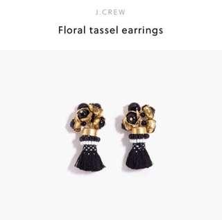 J.crew black and elegant 👂 earrings