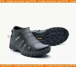 Sepatu boot kulit sapi resleting BKS07