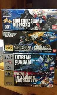 HG 105 dagger/EXTREME GUNDAM/FA-78-3/Build Strike Gundam Full Package