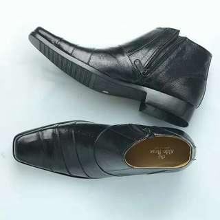 Sepatu boot pria pantopel formal resleting kulit asli BOTT02