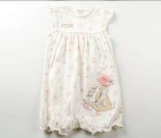 Peter Rabbit 彼得兔 BB嬰兒短袖連身夾衣 (0-1M) 全新