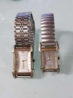 二手 鐵達時石英錶,男庄正常行走,女庄壞了 2隻$200元