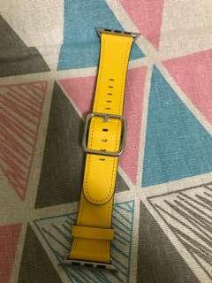 100% Apple Orignial 42mm Yellow Leather Watch Band -  原裝黃色真皮錶帶